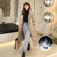七格格羽绒服女2019新款长款冬季韩版学生白鸭绒宽松修身时尚外套
