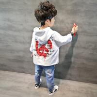 儿童长袖打底衫宝宝韩版上衣 童装男童连帽卫衣春装2018新款