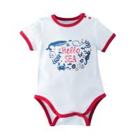 婴儿三角哈衣短袖夏季连体衣男女宝宝初生儿包屁衣