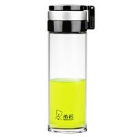 希诺 XN-6075 单层玻璃杯大容量480ml男女士茶水杯带滤网