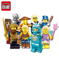 王者公仔荣耀人偶6-8岁礼物积木人仔抽抽乐儿童拼装玩具