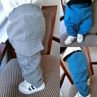 婴儿秋装裤子女童加绒加厚打底裤1岁3个月男宝宝新生儿长裤秋冬装