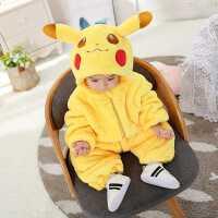婴儿秋冬装连体衣套装宝宝恐龙衣服新生儿哈衣加厚儿童爬服熊猫衣