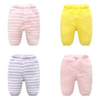 婴儿秋装裤子女宝宝0加绒加厚打底裤1岁3个月6新生儿长裤秋季冬装