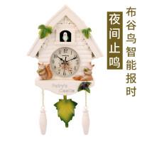 欧式创意布谷鸟咕咕钟表卧室壁挂报时挂钟静音石英钟客厅装饰挂钟