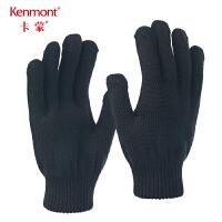 卡蒙全羊毛冬季短手套男加厚骑行保暖摩托车手套针织毛线触屏手套 2843