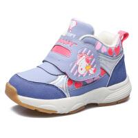 史努比童鞋女童机能鞋冬季大棉女宝宝鞋加绒学步鞋防滑女童鞋