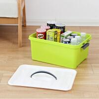收纳盒整理箱塑料家用小号宿舍收纳盒学生床上放书本手提收纳箱子