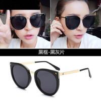 太阳镜女潮大框墨镜 复古时尚长脸眼睛圆脸韩版驾驶眼镜