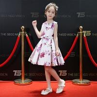 儿童公主裙生日宴会主持人走秀连衣裙晚礼服夏季新款女童礼服韩版