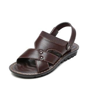 SHOEBOX/鞋柜夏季时尚男士凉鞋休闲沙滩防滑凉拖鞋