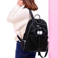 韩版双肩包女包尼龙牛津布防水轻便潮布电脑学生书包百搭大背包女
