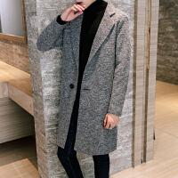 男士毛呢大衣中长款风衣男冬季韩版修身加厚呢子外套男潮青年冬装