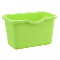 创意厨房橱柜门挂式垃圾桶 塑料桌面收纳盒 多功能创意储物盒挂篮