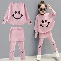 女童春装新款套装韩版时尚童装中大童长袖儿童两件套女孩衣服