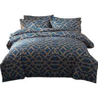 磨毛四件套全棉加厚秋冬季纯棉床单被套1.5米2.0保暖床上用品1.8m