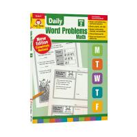 Evan Moor Daily Word Problems Math Grade 2 每日一练应用题练习册 小学二年级