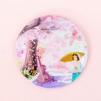 韩国卡通可爱小镜子便携旅行化妆镜女士口袋迷你随身镜手持镜子