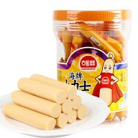 韩国进口海牌小力士鳕鱼肉肠20g*50根桶装儿童奶酪零食品小吃批发