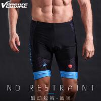 春夏季自行车骑行裤红蓝色短裤 男士短款山地单车骑行中裤子 V16-12酷动短裤绿色