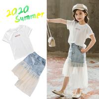 夏款连衣裙夏装女孩儿童装两件套裙子