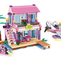 积木玩具公主粉组装儿童拼装女孩礼物