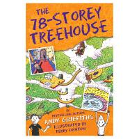 The 78-Storey Treehouse 78层小屁孩树屋历险记原版进口英文图书 疯狂树屋 儿童英语趣味插图章节