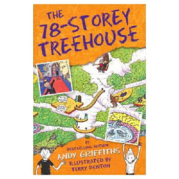 The 78-Storey Treehouse 78层小屁孩树屋历险记原版进口英文图书 疯狂树屋 儿童英语趣味插图章节书 7-12岁