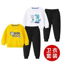男童卫衣套装秋装新款儿童春装衣服男孩宝宝休闲运动两件套