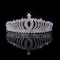 韩式超闪水钻皇冠 演出婚纱礼服头饰儿童女童公主皇冠发箍 白色