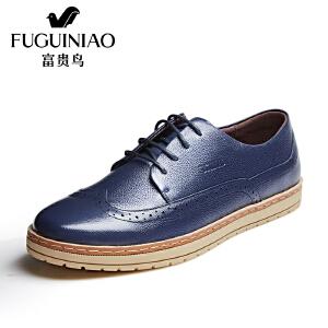 年富贵鸟休闲鞋男鞋春季新款运动板鞋休闲户外鞋男士单鞋透气皮鞋子