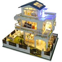 diy小屋别墅温哥华 手工创意房子模型拼装男玩具生日礼物女生