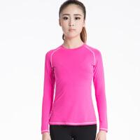 女子紧身衣训练长袖 运动跑步健身瑜伽服长袖上衣
