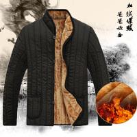 中老年棉衣男装冬装内胆加绒老人男棉袄外套爸爸装老年冬季棉衣服