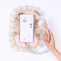 原创欧式可视门铃套保护套套布艺对讲门2件套罩刺绣蕾丝电话罩