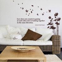 宜美贴 随风花束简约墙贴 客厅卧室沙发电视墙背景墙面装饰