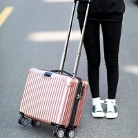 铝框登机箱18寸女小型拉杆箱商务男万向轮行李箱包迷你旅行箱子16 玫瑰金(拉链 镜面款) 18寸(登机箱)
