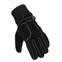 老人手套男冬天老年人猪皮手套秋冬季中老年男士爸爸保暖手套加厚