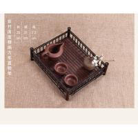 竹制席面茶垫杯托茶具配件茶架功夫茶杯架子日式茶道收纳架置物架