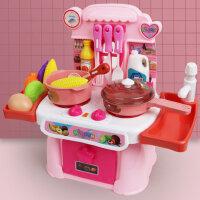 �和��^家家�N房玩具套�b煮��娃娃家小女孩做�炒菜男孩仿真�N具