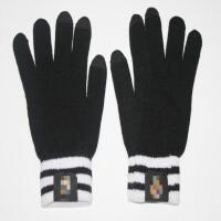 足球冬季针织手套巴萨皇马国米保暖加厚训练毛线触屏手套男
