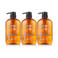熊野油脂 无硅弱酸性马油洗发水 600毫升/瓶 3瓶装