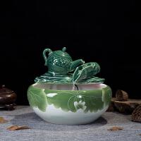陶瓷�~缸流水�[件客�d家�b工�品福�流水加�耢F化器��水盆