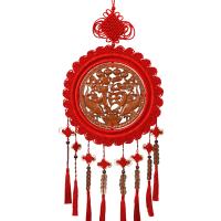 桃木中国结挂件家居客厅大号装饰福字玄关壁挂手工中国节小号