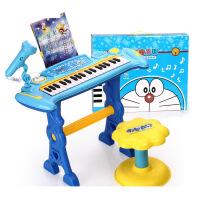 哆啦A梦儿童电子琴 宝宝早教带麦克风电子琴钢琴3-6岁玩具e7s