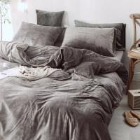 水晶绒四件套保暖天鹅绒床单被套珊瑚绒双面绒床上用品冬季法莱绒