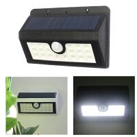 太阳能路灯 新款20LED太阳能人体感应壁灯U型贴片 太阳能庭院灯 白壳