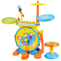 �和�架子鼓玩具1-3-6�q敲打�菲����益智爵士鼓男孩