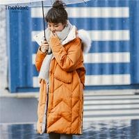 羽绒服女中长款韩国2019冬新款时尚韩版宽松加厚女士女式大毛领潮