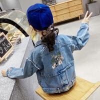 女童牛仔外套2019新款韩版春装中大童时髦牛仔褂春秋夹克上衣